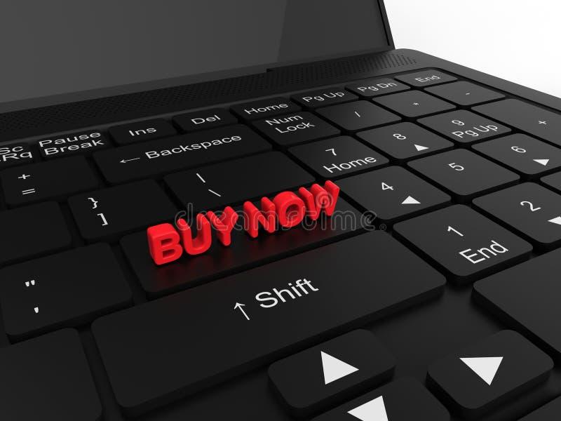Achetez maintenant sur le clavier d'ordinateur portable illustration de vecteur