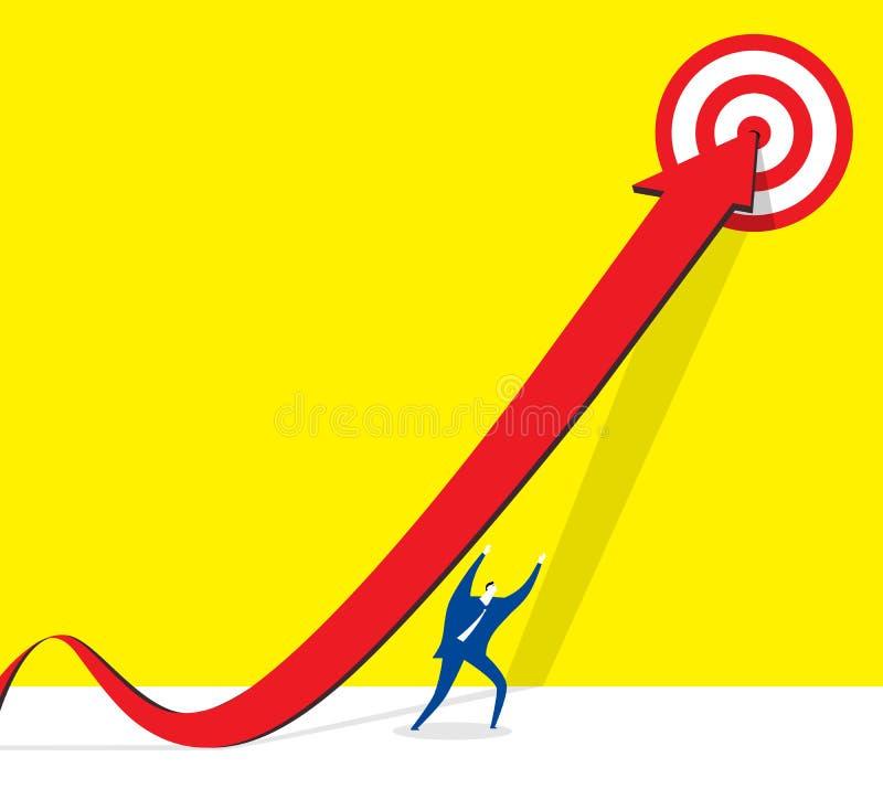 Achieve the goal stock illustration