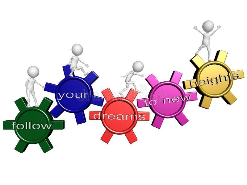 Download Achieve goals stock illustration. Illustration of positive - 26184452