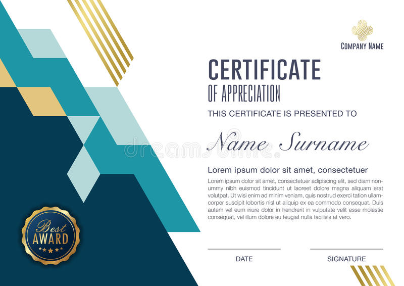 Achievement antique award background blank border business certificate template with luxury and modern pattern vector illustration wajeb Image collections