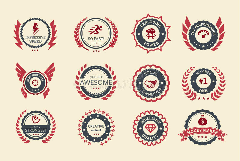 Achievement Badges Royalty Free Stock Image