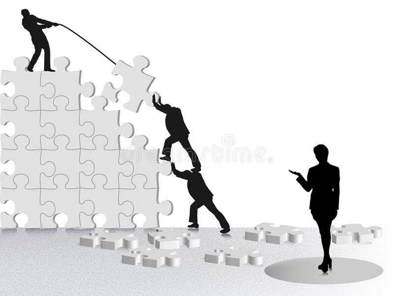Achievement of business success stock illustration