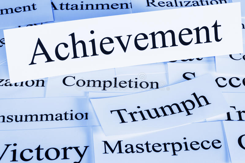 Achievement Concept stock image