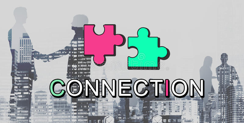 Achievement Connection Cooperation Graphic Concept. Achievement Connection Communication Cooperation Graphic royalty free illustration