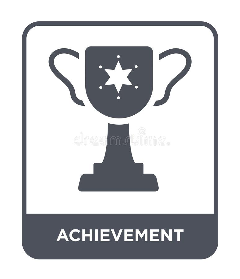 Achievement icon in trendy design style. achievement icon isolated on white background. achievement vector icon simple and modern. Flat symbol for web site stock illustration