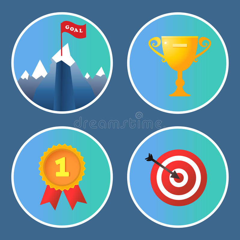 Download Achievement Icons Set Stock Vector - Image: 40460030
