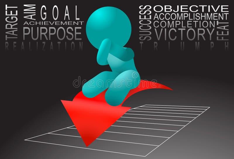 Download Achievement Man Standing Broad Jump Illustration Stock Vector - Image: 21133912