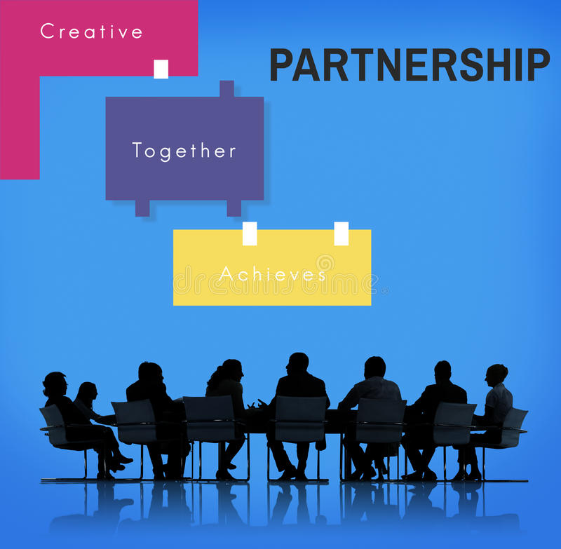 Achievement Teamwork Creative Together Collaboration Graphic Con. Business Achievement Teamwork Creative Together Collaboration Graphic Concept royalty free stock images