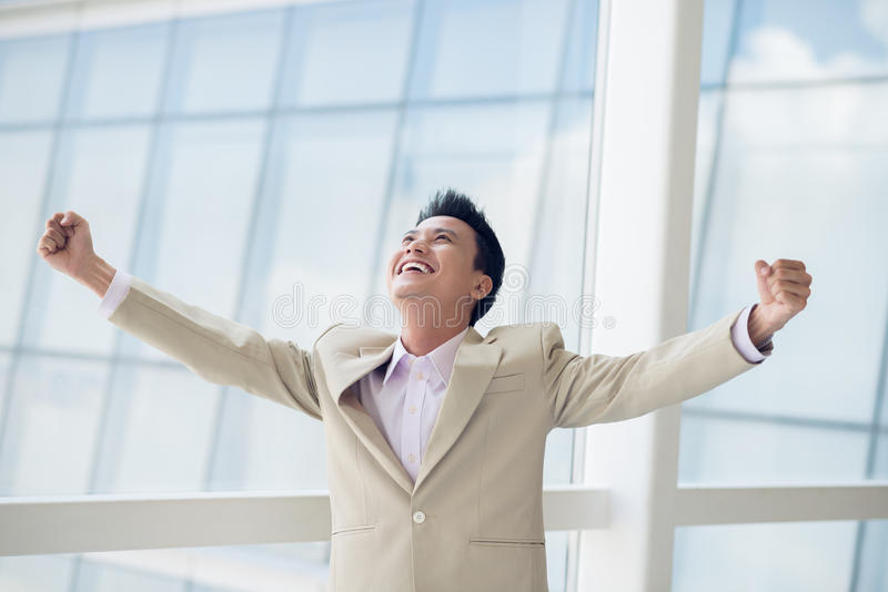 Download Achievement stock photo. Image of ecstatic, gesture, male - 41086952
