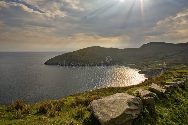 Achill Island, Keel Beach stock photos