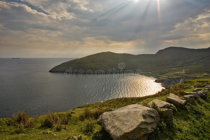 Achill wyspa, kil plaża zdjęcia stock