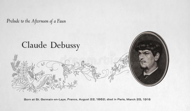 French composer Claude Debussy. Achille-Claude Debussy was a French composer. He is sometimes seen as the first Impressionist composer, although he vigorously royalty free stock images
