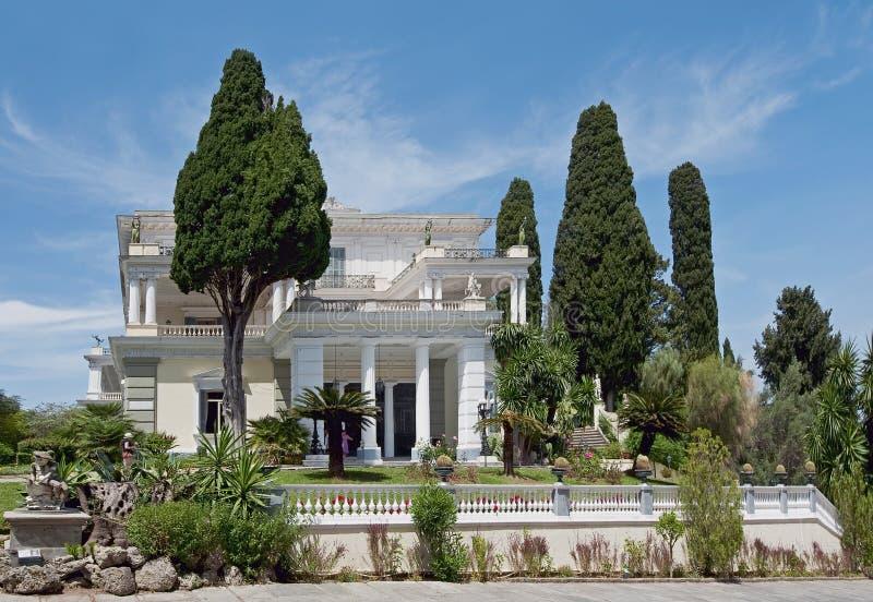 Achilleion σε Gastouri, Κέρκυρα, Ελλάδα στοκ φωτογραφία με δικαίωμα ελεύθερης χρήσης