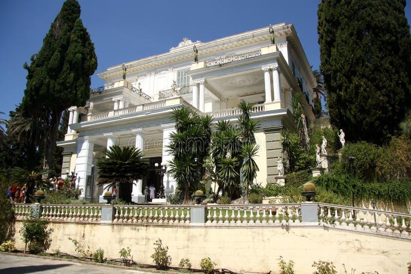 Achilleion pałac Corfu, Grecja (,) obrazy stock