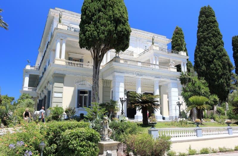 Achilleion pałac Gastouri Corfu wyspa, Grecja obrazy stock