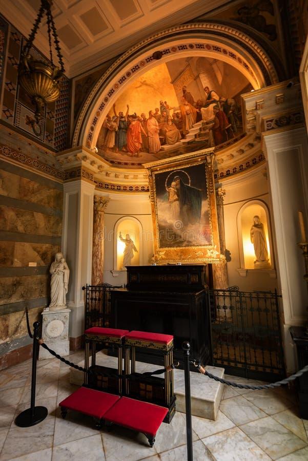 Achilleion pałac, Grecja zdjęcia royalty free