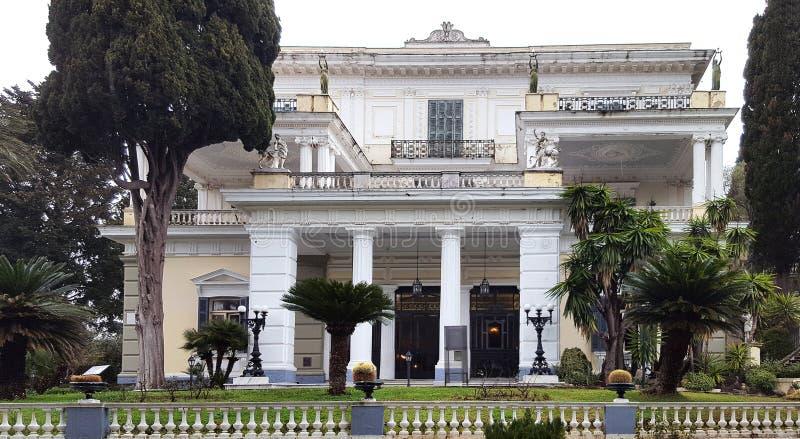 Achilleion pałac imperatorowa Austria Elisabeth Bavaria w Corfu wyspie, Grecja obraz stock
