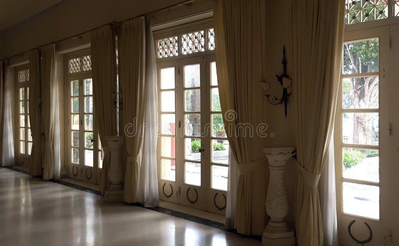 Achilleion pałac imperatorowa Austria Elisabeth Bavaria w Corfu wyspie, Grecja zdjęcia stock