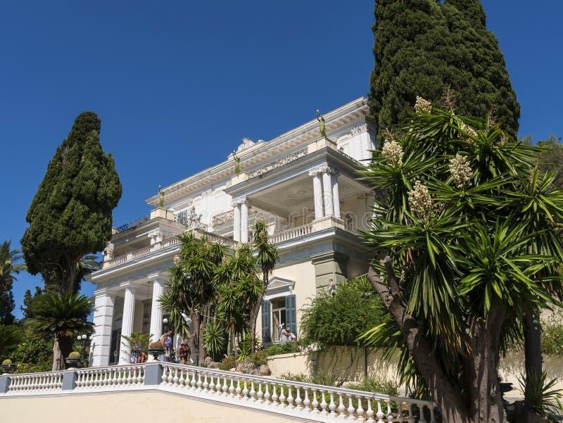 achilleion pałac na wyspie Corfu Grecja budował imperatorową Elizabeth Austria Sissi obraz stock