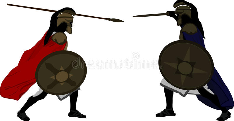Achilles e Hector ilustração royalty free