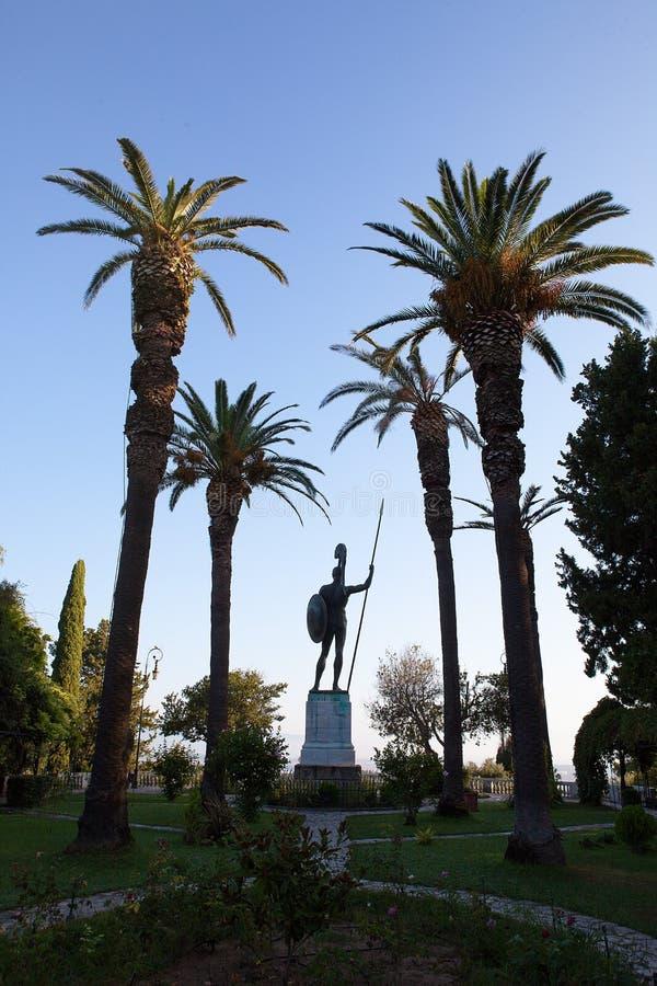 Achilles statua - Achilleion pałac, Corfu, Grecja obrazy stock