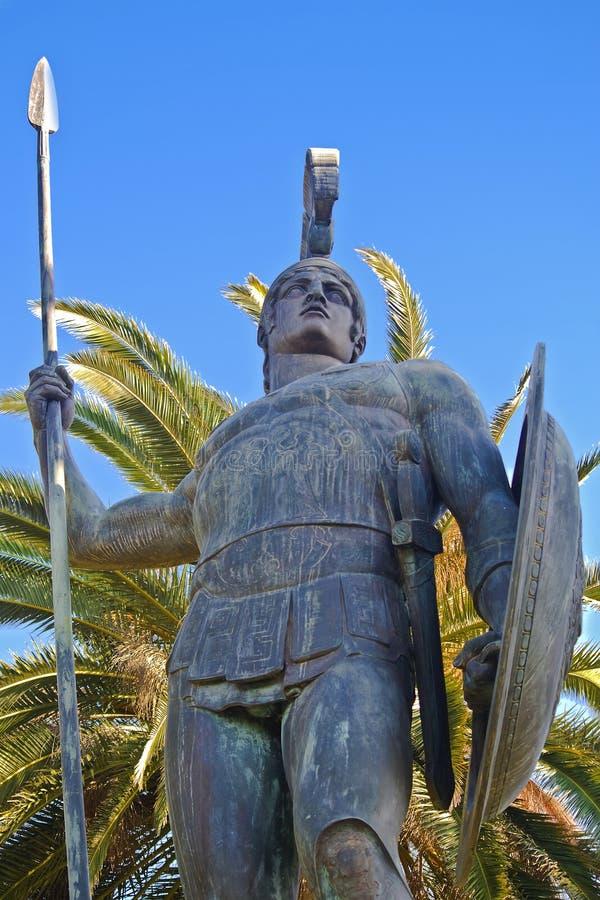 achilles statua Corfu Greece fotografia royalty free