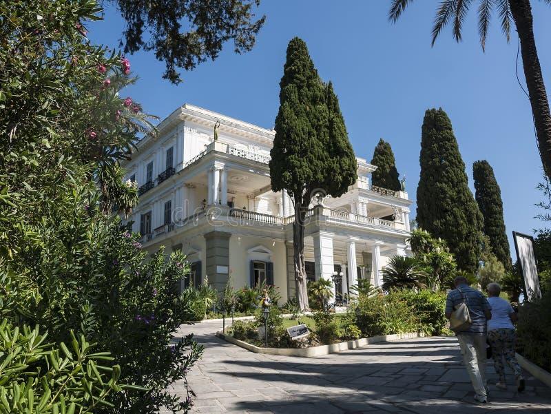 Achillieon pałac na wyspie Corfu Grecja budował imperatorową Elizabeth Austria Sissi obraz stock