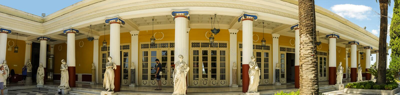 Achillieon pałac na wyspie Corfu Grecja budował imperatorową Elizabeth Austria Sissi zdjęcie stock