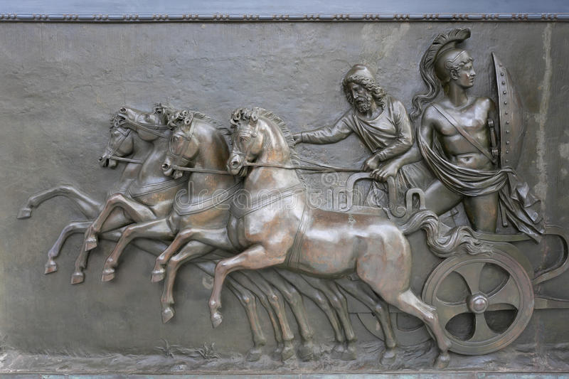 Achillion Palace Bronze Relief royalty free stock images