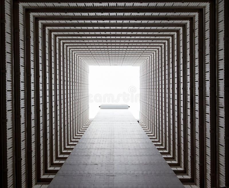 Achitecture astratto di Hong Kong Public Housing Estate fotografia stock libera da diritti