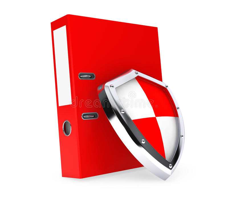 Achive Office Binder with Protection Shield. On a white background stock illustration