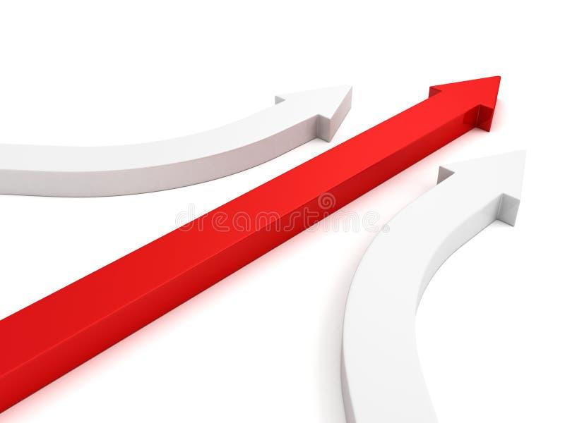 Achivement business leadership concept red arrow vector illustration