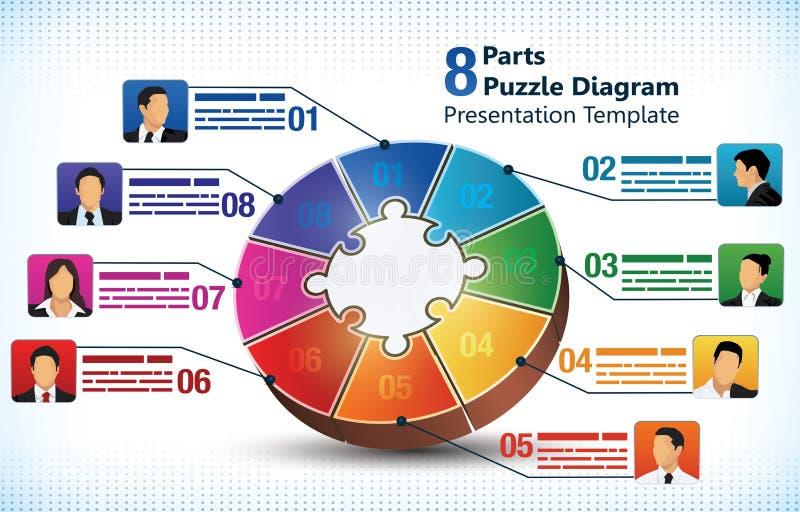 Acht opgeruimd presentatiemalplaatje stock illustratie