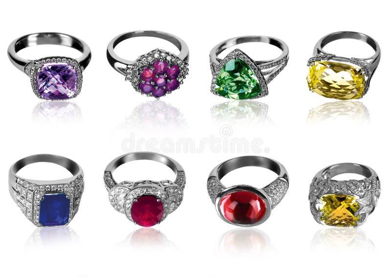 Acht ringen royalty-vrije stock foto