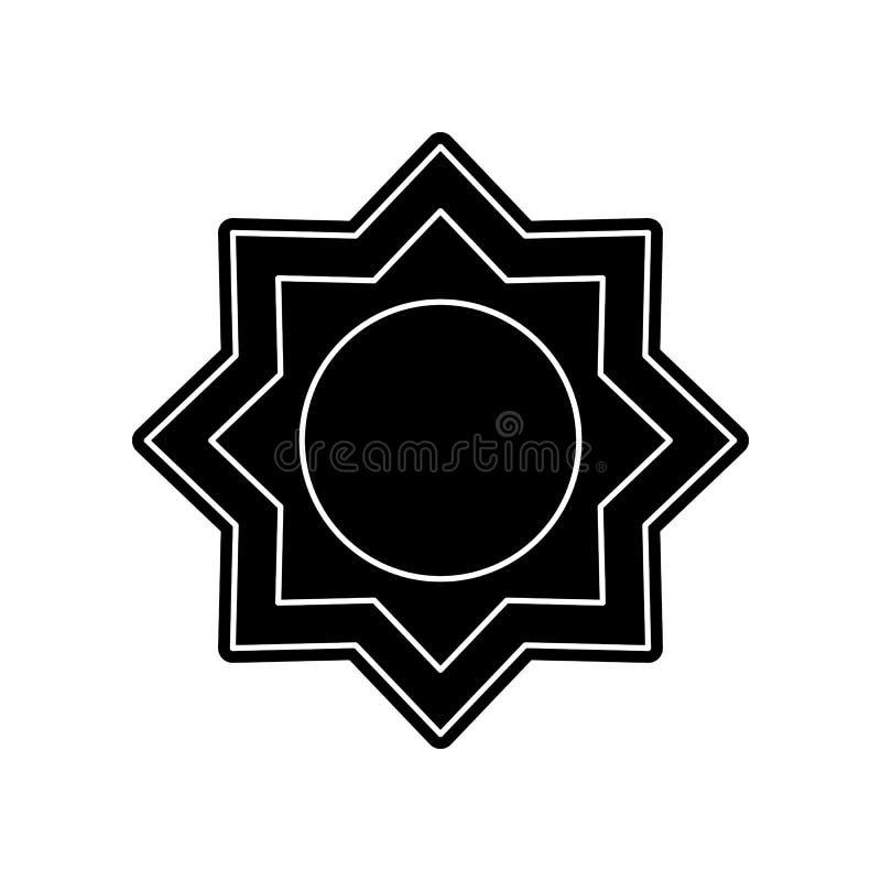 Acht-spitze Sternikone Element von arabischem f?r bewegliches Konzept und Netz Appsikone Glyph, flache Ikone f?r Websiteentwurf u lizenzfreie abbildung