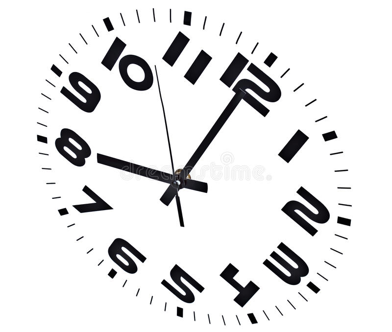 Acht Uhr stockfotos