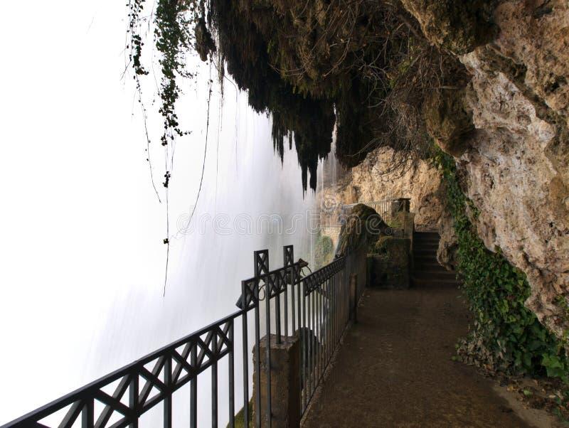 Achter grote waterval in Edessa-dalingen van Griekenland stock afbeelding