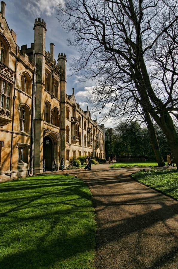 Achter ingang van de Universiteit van de Drievuldigheid royalty-vrije stock afbeelding
