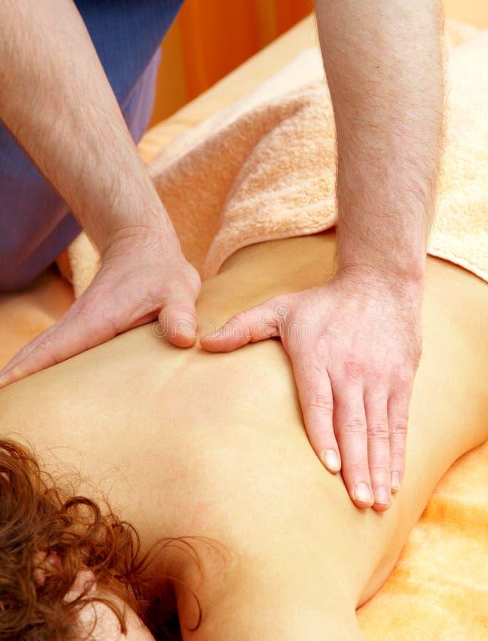 Achter massage royalty-vrije stock foto's