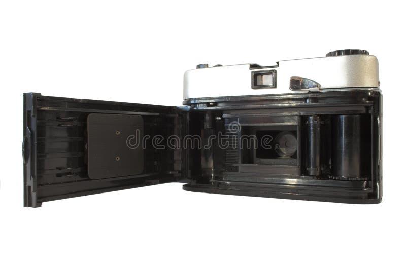 Achter mening van uitstekende filmcamera stock fotografie