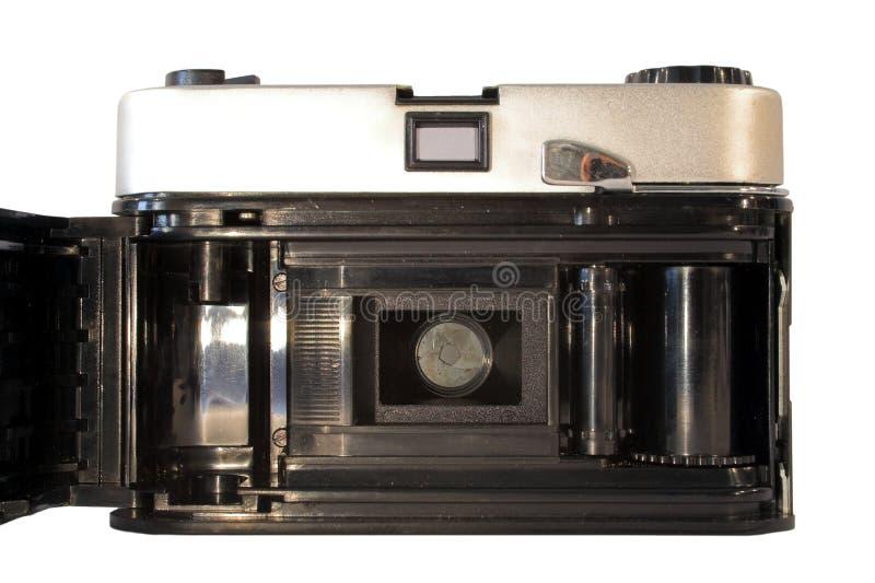 Achter mening van uitstekende filmcamera royalty-vrije stock foto's