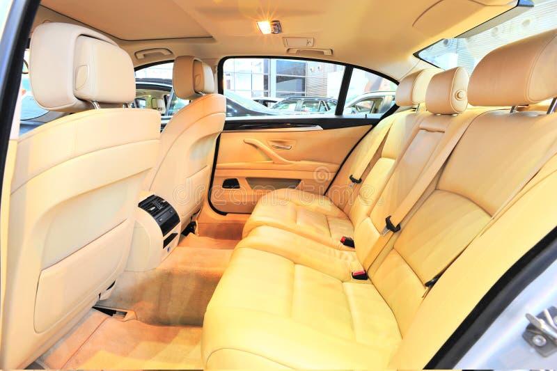 Achterbank van BMW stock afbeelding