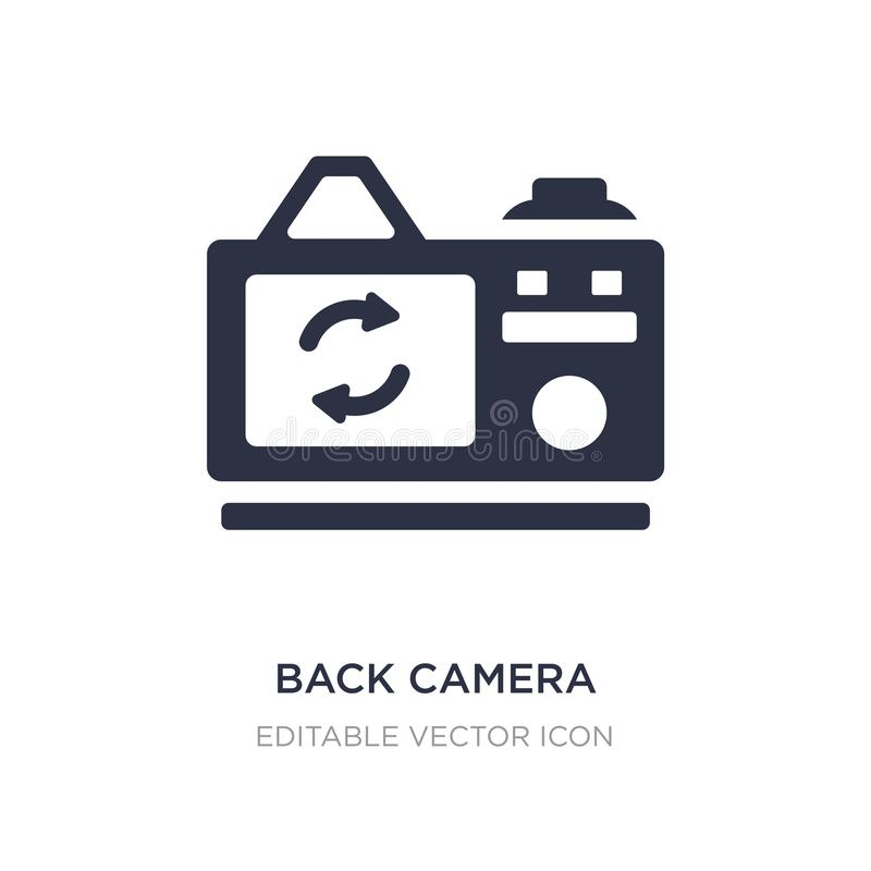 achtercamerapictogram op witte achtergrond Eenvoudige elementenillustratie van Algemeen concept royalty-vrije illustratie
