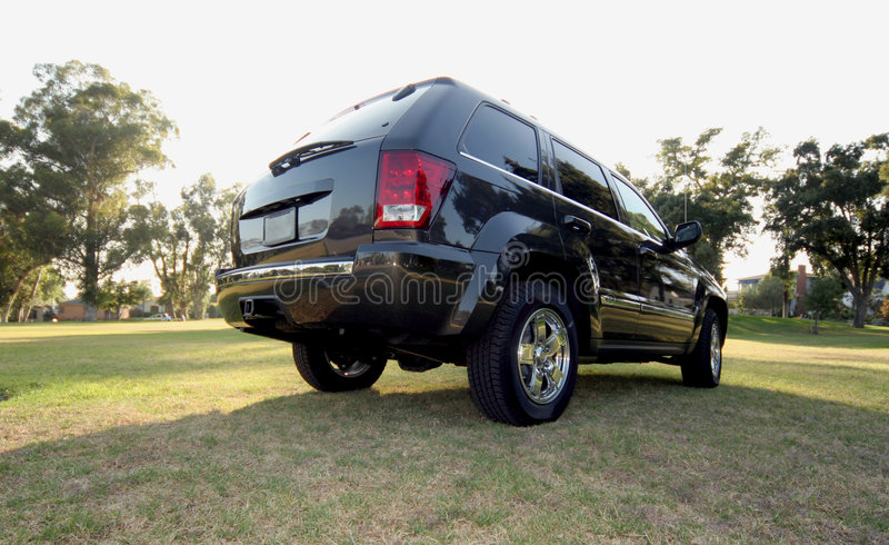 Achtereind van jeep royalty-vrije stock afbeelding