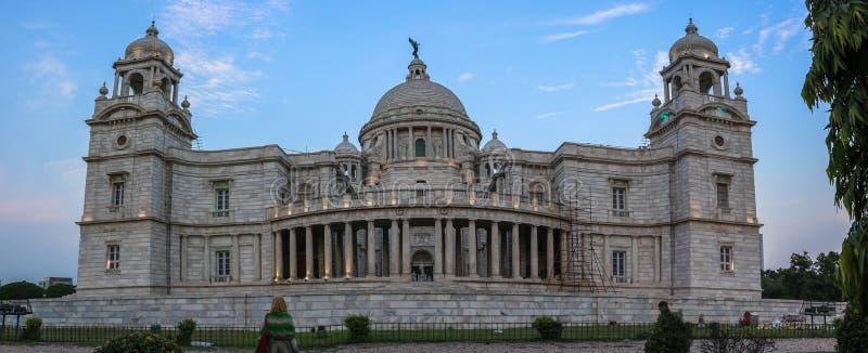 Achtereindmening van Victoria Memorial, Kolkata, India stock afbeelding
