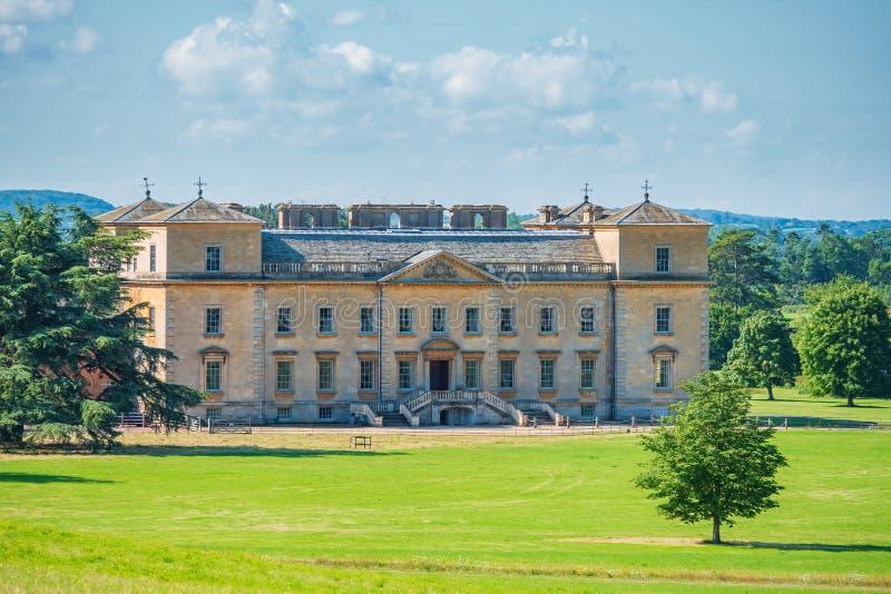 Achtergedeelte van Croome-Hof in de zomer, Worcestershire, Engeland stock foto