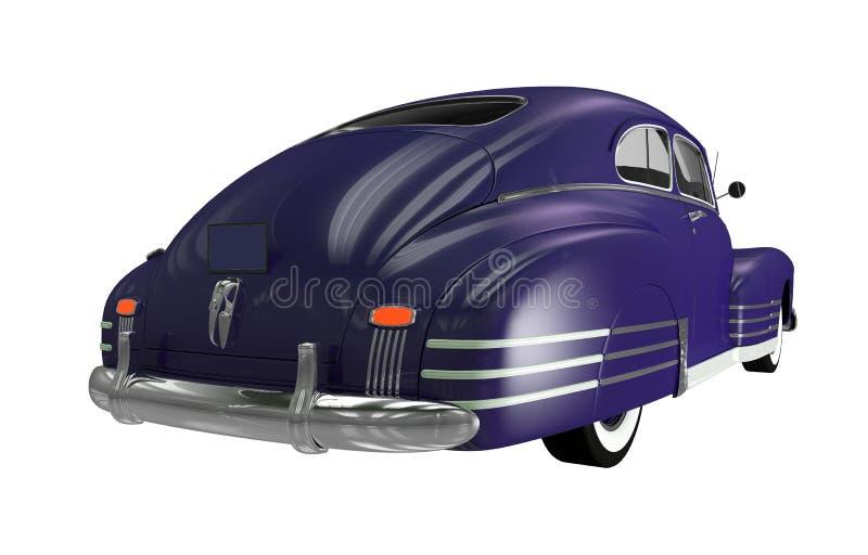 Achtergedeelte van Klassieke Auto stock illustratie