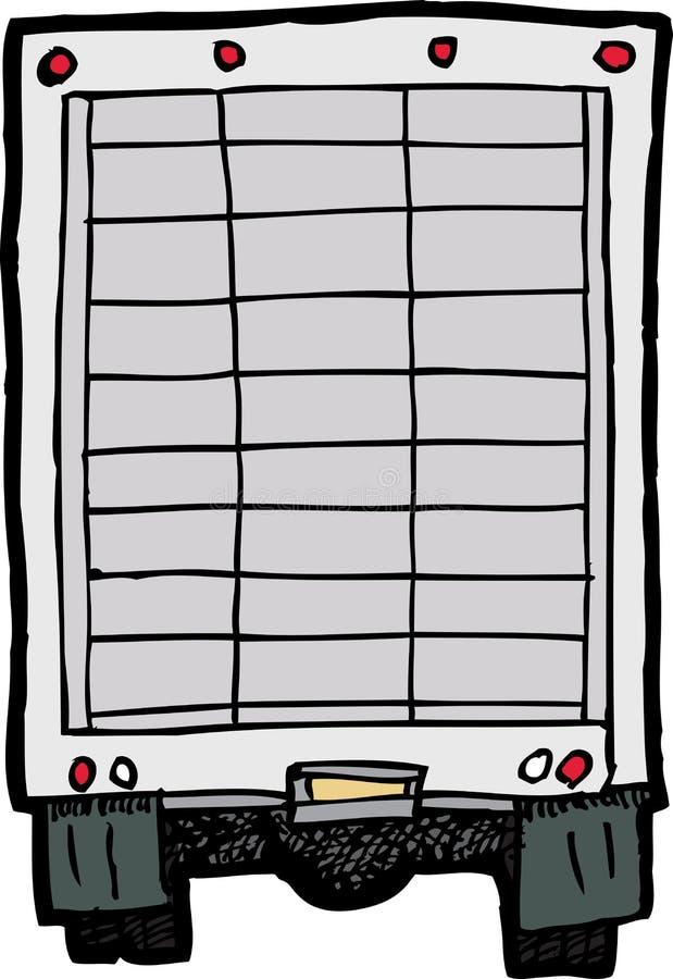 Achtergedeelte van Vrachtwagen royalty-vrije illustratie