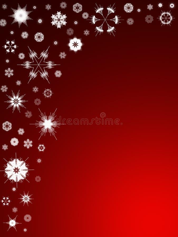Achtergrond 105 van de sneeuwvlok stock illustratie