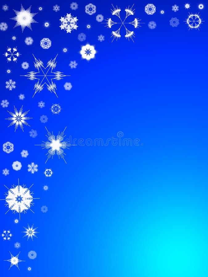 Achtergrond 106 van de sneeuwvlok stock illustratie